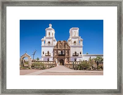 San Xavier Del Bac Mission - Tucson Arizona Framed Print
