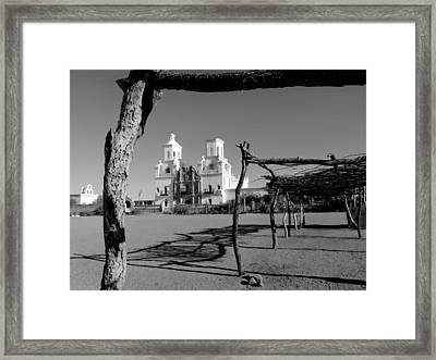 San Xavier Del Bac, Monochrome Framed Print