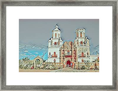 Framed Print featuring the photograph San Xavier Del Bac Remix One by Dan McManus
