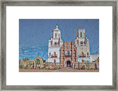 Framed Print featuring the photograph San Xavier Del Bac Remix Two by Dan McManus