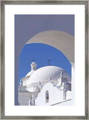 San Xavier Del Bac Framed Print by Sandra Bronstein