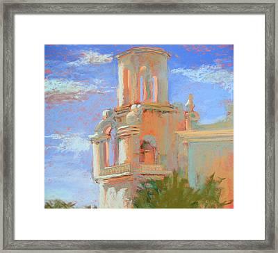 San Xavier Mission Tucson Framed Print by Sandra Ortega