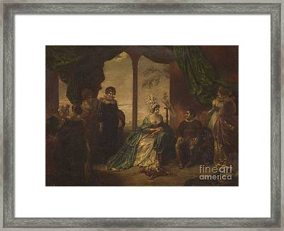 Sancho Panza And The Duchess Framed Print by MotionAge Designs