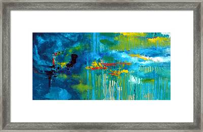 Sanctuary Abstract Painting Framed Print
