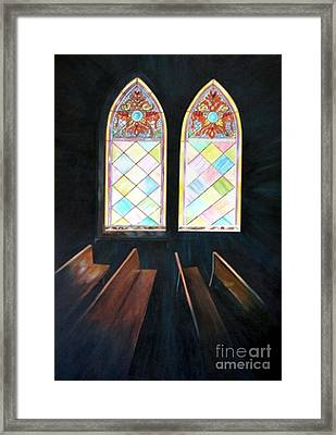Framed Print featuring the painting Sanctuary by Anna-Maria Dickinson