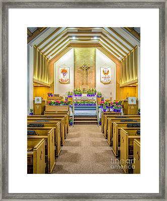 Framed Print featuring the photograph Sanctuary At Easter by Nick Zelinsky