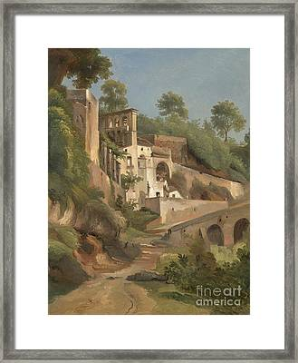 Sanctuary Dell'avvocatella In Cava De 'tirreni Framed Print by Celestial Images