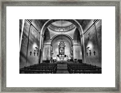 Sanctuary - Mission Concepcion No 2 Framed Print by Stephen Stookey