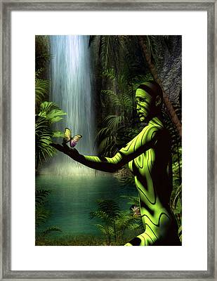 Framed Print featuring the digital art Sanctuary by Shadowlea Is