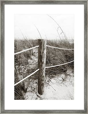 Sand And Grass Framed Print by Julie Palencia