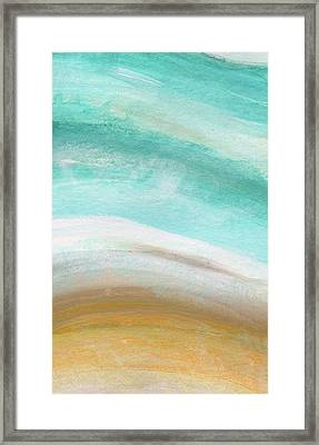 Sand And Saltwater- Abstract Art By Linda Woods Framed Print