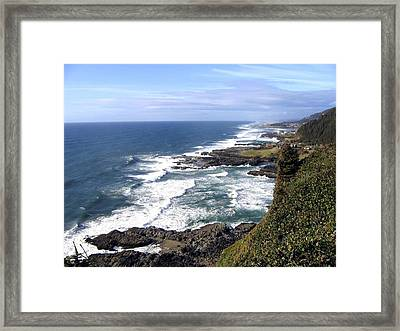 Sand And Sea 2 Framed Print by Will Borden