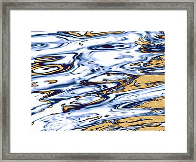 Sand And Sea Abstract   Framed Print