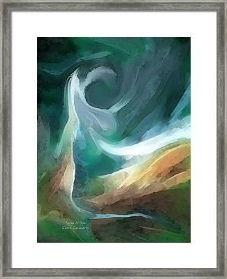 Sand And Sea Framed Print by Carol Cavalaris