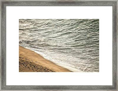 Sand And Sea Framed Print