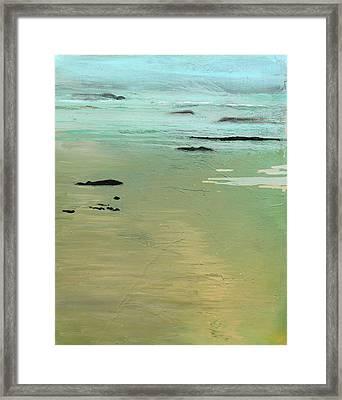 Sand And Sea Framed Print by Ethel Vrana