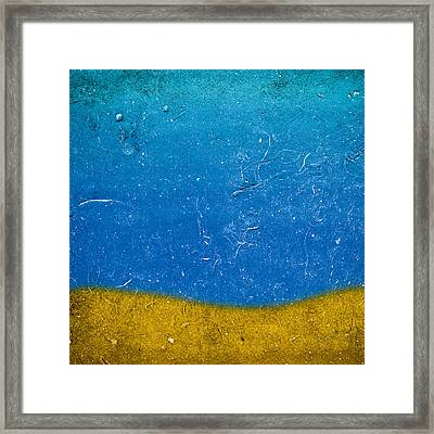 Sand And Sea Framed Print by Frank Tschakert