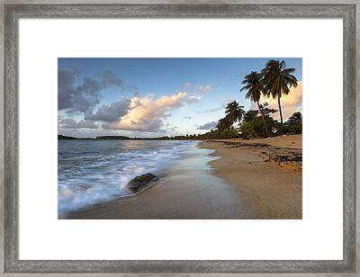 Framed Print featuring the photograph Sand And Sea by Patrick Downey