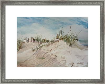 Sand And Sky Framed Print by Dorothy Herron
