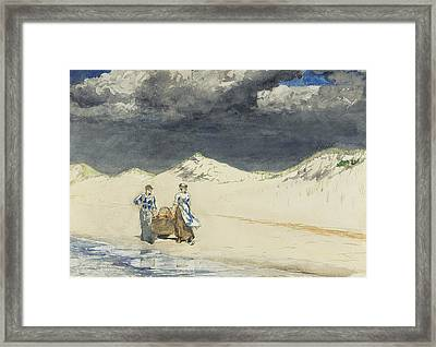 Sand And Sky Framed Print by Winslow Homer