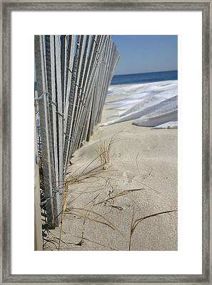 Sand And Snow Framed Print by Mary Haber