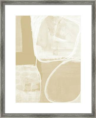 Sand And Stone 5- Contemporary Abstract Art By Linda Woods Framed Print