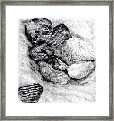 Sand And Stone Framed Print by Mindy Newman