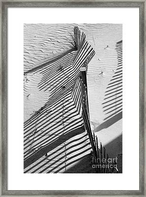 Sand And Sun Framed Print by Robert Meanor