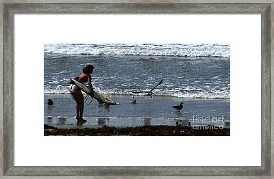 Sand And Surf Framed Print