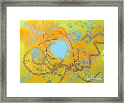 Sand And Water Framed Print
