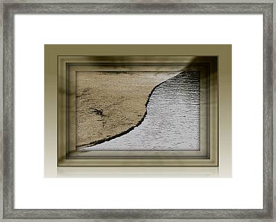 Sand And Water Framed Print by Dottie Dees