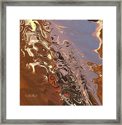 Sand Bank Framed Print