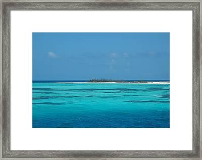 Sand Bar Island Framed Print by Susanne Van Hulst