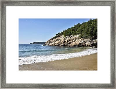 Sand Beach - Acadia National Park - Maine Framed Print by Brendan Reals