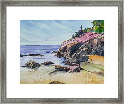 Sand Beach I Framed Print by Yolanda Koh