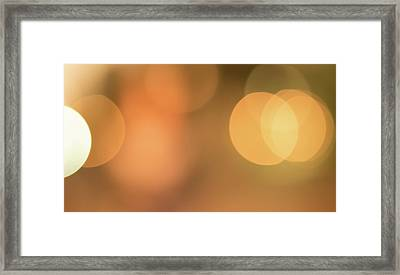 Sand Bokeh One Framed Print
