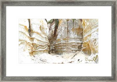 Sand Canyon Of San Clemente Framed Print