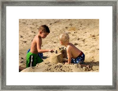 Sand Castle Framed Print by Lyle  Huisken