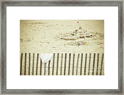 Sandcastle On The Beach Framed Print by Colleen Kammerer