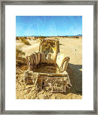 Sand Chair Framed Print by Peter Tellone