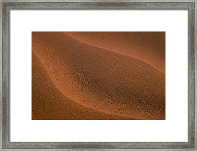 Sand Curves Framed Print