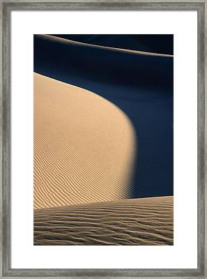 Sand Design In Death Valley National Park Framed Print by Pierre Leclerc Photography