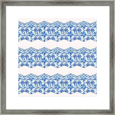 Sand Dollar Delight Pattern 4 Framed Print