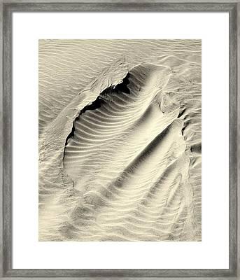 Sand Drift Framed Print by Rosanne Jordan