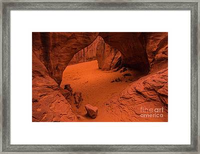 Framed Print featuring the photograph Sand Dune Arch - Arches National Park - Utah by Gary Whitton