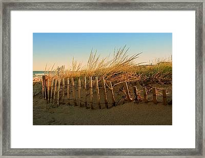Sand Dune In Late September - Jersey Shore Framed Print