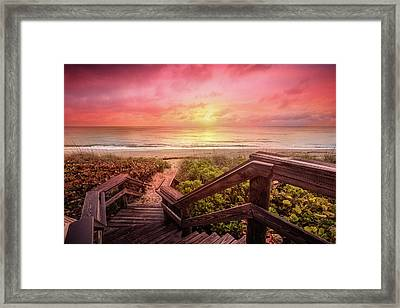Framed Print featuring the photograph Sand Dune Morning by Debra and Dave Vanderlaan