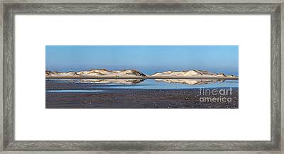 Sand Dune Reflections On The Outer Banks Framed Print by Dan Carmichael