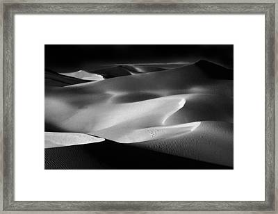 Sand Dune Shadows At Sunset Framed Print by Paul W Faust - Impressions of Light
