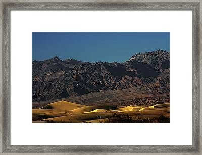 Sand Dunes - Death Valley's Gold Framed Print by Christine Till